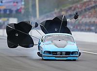 Mar 17, 2019; Gainesville, FL, USA; NHRA pro mod driver Michael Biehle II during the Gatornationals at Gainesville Raceway. Mandatory Credit: Mark J. Rebilas-USA TODAY Sports