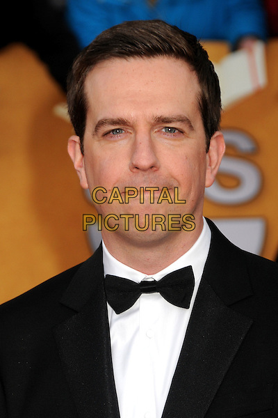 ED HELMS.17th Annual Screen Actors Guild Awards held at The Shrine Auditorium, Los Angeles, California, USA..January 30th, 2011.SAG arrivals headshot portrait black white bow tie.CAP/ADM/BP.©Byron Purvis/AdMedia/Capital Pictures.