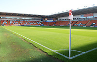A general view of Bloomfield Road, home of Blackpool<br /> <br /> Photographer Kevin Barnes/CameraSport<br /> <br /> The Carabao Cup First Round - Blackpool v Macclesfield Town - Tuesday 13th August 2019 - Bloomfield Road - Blackpool<br />  <br /> World Copyright © 2019 CameraSport. All rights reserved. 43 Linden Ave. Countesthorpe. Leicester. England. LE8 5PG - Tel: +44 (0) 116 277 4147 - admin@camerasport.com - www.camerasport.com