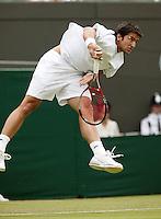 28-6-06,England, London, Wimbledon, first round match, Tipsarevic