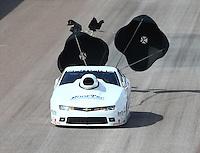 Feb 21, 2015; Chandler, AZ, USA; NHRA pro stock driver Rodger Brogdon during qualifying for the Carquest Nationals at Wild Horse Pass Motorsports Park. Mandatory Credit: Mark J. Rebilas-