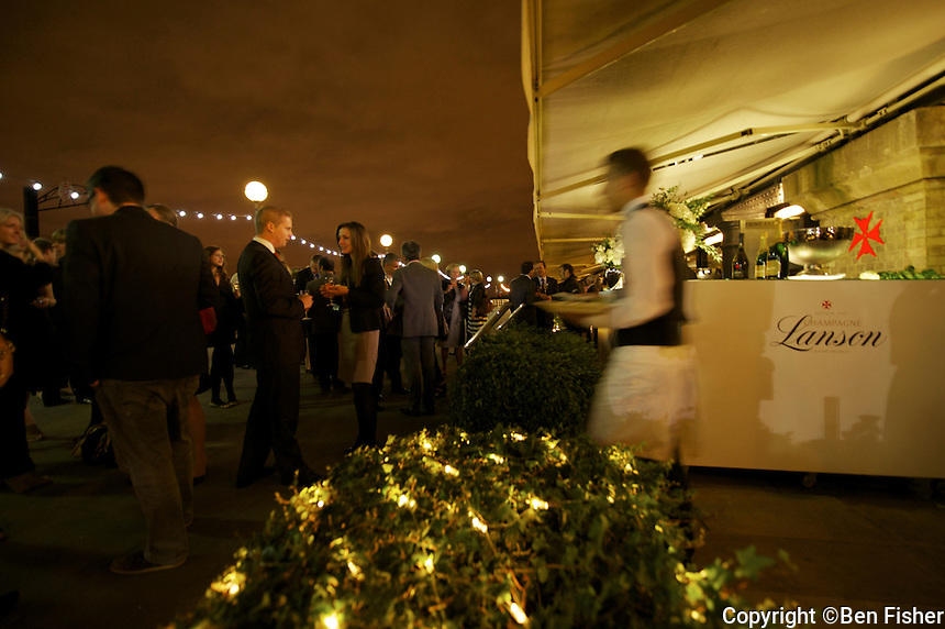 Champagne Lanson Winter Terrace at Le Pont de la Tour