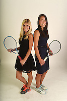 NWA Democrat-Gazette/MICHAEL WOODS • @NWAMICHAELW<br /> Girls Doubles Team of the Year, Avery Hargrove and Taylor Cheung-Damonte, Bentonville, Thursday, November 19, 2016.