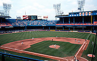 Ballparks: Detroit--Tiger Stadium. Wed., June 11, 1997. Panorama from upper deck.