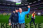 Jim Gavin Dublin management celebrate in the Kerry v Dublin All Ireland Senior Football Final in Croke Park on the 20th September 2015.