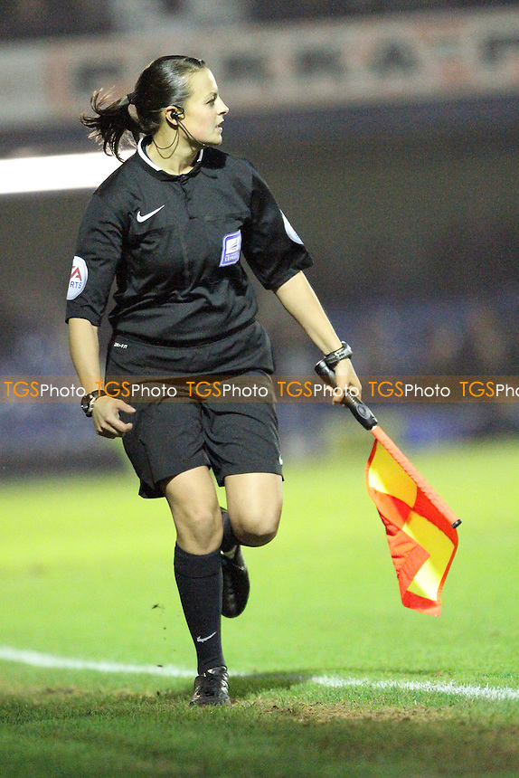 Assistant referee Lisa Rashid - Southend United vs Northampton Town - Sky Bet League Two Football at Roots Hall, Southend on Sea, Essex - 29/11/14 - MANDATORY CREDIT: Mick Kearns/TGSPHOTO - Self billing applies where appropriate - contact@tgsphoto.co.uk - NO UNPAID USE
