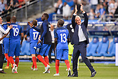 June 13th 2017, Stade de France, Paris, France; International football friendly, France versus England;  Coach DIDIER DESCHAMPS (FRANCE) applauds the fans