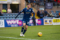 8th February 2020; Dens Park, Dundee, Scotland; Scottish Championship Football, Dundee versus Partick Thistle; Ross Callachan of Dundee looks for a passing outlet