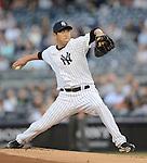 Hiroki Kuroda (Yankees),.MAY 17, 2013 - MLB :.Hiroki Kuroda of the New York Yankees pitches during the baseball game against the Toronto Blue Jays at Yankee Stadium in The Bronx, New York, United States. (Photo by AFLO)