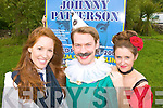 xxx (Johnny Paterson), Karen McGillicuddy (Biddy) left and Irene Kavanagh (Selina) from drama musical Johnny Patterson which will presenting its world wide premier in the Killorglin CYMS on 3rd August