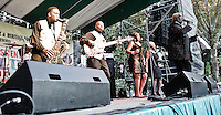 Mel Waiters Band playing at the 2011 Blues and BBQ Festival in New Orleans, LA.