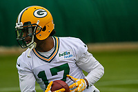 Green Bay Packers wide receiver Davante Adams (17) during an Organized Team Activity on May 23, 2017 at Clarke Hinkle Field in Green Bay, Wisconsin.  (Brad Krause/Krause Sports Photography)