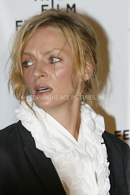WWW.ACEPIXS.COM . . . . . ....April 22 2009, New York City....Uma Thurman arriving at the premiere of 'Whatever Works' during the 2009 Tribeca Film Festival at Ziegfeld on April 22, 2009 in New York City.....Please byline: NANCY RIVERA - ACEPIXS.COM.. . . . . . ..Ace Pictures, Inc:  ..tel: (212) 243 8787 or (646) 769 0430..e-mail: info@acepixs.com..web: http://www.acepixs.com