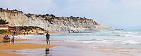 Panoramic photo of Scala dei Turchi Beach, Rossello cape, Realmonte, Agrigento, Sicily, Italy, Europe. This is a panoramic photo of Scala dei Turchi Beach on the Rossello cape at Realmonte near Agrigento in Sicily, Italy.
