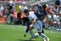 Santa Clara, CA - Sunday July 22, 2018: Nick Lima during a friendly match between the San Jose Earthquakes and Manchester United FC at Levi's Stadium.