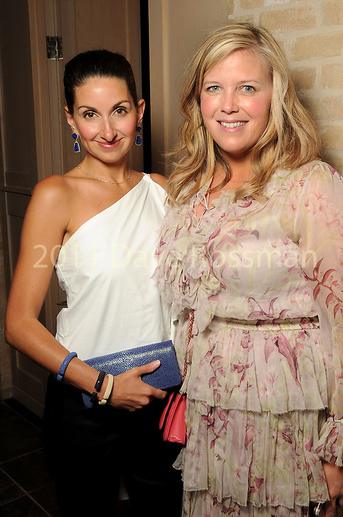 Jennifer Swallen and Melissa Sugulas at the Recipe for Success' Delicious Alchemy Dinner at the home of Becca Cason Thrash Wednesday April 19,2017.(Dave Rossman Photo)
