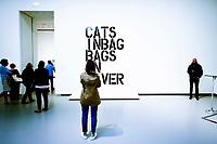 Illustration Ambiance / Christopher Wool - Untitled<br /> Parigi 16-10-2017 MoMa <br /> Esposizione Arte moderna <br /> Foto JB Autissier / Panoramic / Insidefoto