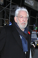 NEW YORK, NY November 14:Donald Sutherland at NBC's Today Show to talk about TV series ICE  in New York City.November 14, 2016. Credit:RW/MediaPiunch