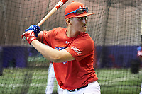 Kody Milton (41) of Severna Park High School in Arnold, Maryland during the Under Armour All-American Game practice presented by Baseball Factory on July 28, 2017 at Rocky Miller Park in Evanston, Illinois.  (Mike Janes/Four Seam Images)