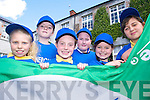 GREEN FLAG: At the launch of Presentation School Tralee's second Green Flag by Kieran Donaghy on Friday were front, l-r: Cody Rigney, Kate Sheehy, Jade Griffin. Back, l-r: Alison Moriarty and Rebecca McGovern.   Copyright Kerry's Eye 2008