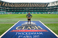 "Bath Rugby Photocall for ""The Clash"" on March 16, 2017 at Twickenham Stadium in London, England. Photo by: Patrick Khachfe / Onside Images"