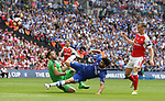 David Ospina of Arsenal saves from Diego Costa of Chelsea during the Emirates FA Cup Final match at Wembley Stadium, London. Picture date: May 27th, 2017.Picture credit should read: David Klein/Sportimage
