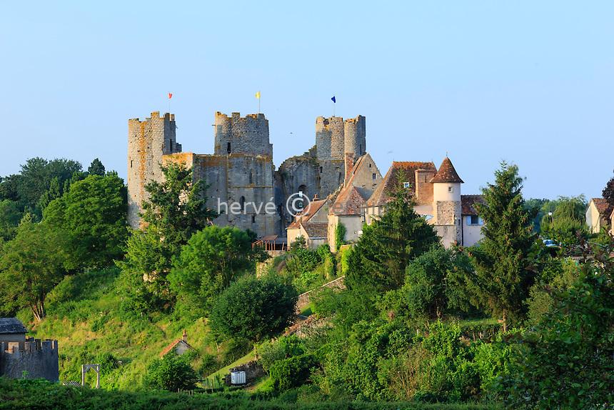 France, Allier (03), Bourbon-l'Archambault, le château // France, Allier, Bourbon l'Archambault, the castle