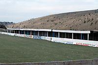 Covered area at Frickley Athletic FC Football Ground, Westfield Lane, South Elmsall, West Yorkshire, pictured on 15th July 1991