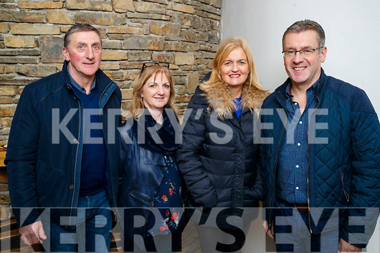 "Gerry Cremins Noreen Cremins with Chrissie and Brendan Kelly, pictured at Aonghus McAnally ""Celebrating Christie Hennessy"" at Siamsa Tire, Tralee, on Thursday, November 23rd last."