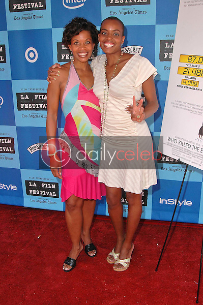 J.Karen Thomas and Colette Divine<br />at the Los Angeles Film Festival Screening of &quot;Who Killed The Electric Car&quot;. Landmark Regent Theater, Los Angeles, CA. 06-24-06<br />Dave Edwards/DailyCeleb.com 818-249-4998