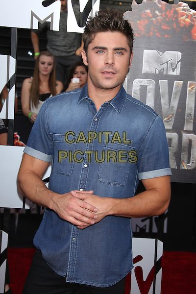LOS ANGELES, CA - APRIL 13: Zac Efron at the 2014 MTV Movie Awards at Nokia Theatre L.A. Live on April 13, 2014 in Los Angeles, California. <br /> CAP/MPI/JO<br /> &copy;Janice Ogata/MPI/Capital Pictures