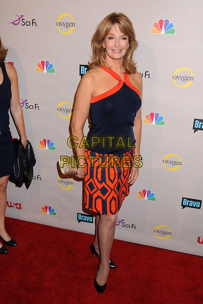 DEIDRE HALL.NBC Universal 2008 Press Tour All-Star Party at the Beverly Hilton Hotel, Beverly Hills, California, USA..July 20th, 2008.full length black blue orange pattern dress.CAP/ADM/BP.©Byron Purvis/AdMedia/Capital Pictures.