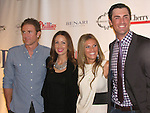Second baseman Chase Utleg and wife Jen with Philadelphia Phillies Pitcher Cole Hamels and wife Heidi who head the Hamels Foundation as it presents Diamonds & Denim on August 27, 2012 at the Crystal Tea Room, Philadelphia, Pennsylvania.  (Photo by Sue Coflin/Max Photos)