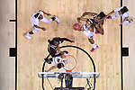 DALLAS, TX - APRIL 2: A'ja Wilson #22 of the South Carolina Gamecocks grabs a rebound during the 2017 Women's Final Four at American Airlines Center on April 2, 2017 in Dallas, Texas. (Photo by Justin Tafoya/NCAA Photos via Getty Images)