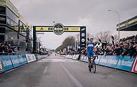 Niki Terpstra (NED/Quick-Step Floors) wins the 102nd Ronde van Vlaanderen 2018 (1.UWT)<br /> <br /> Antwerpen - Oudenaarde (BEL): 265km
