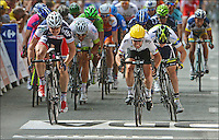 GREIPEL Andre - CAVENDISH Mark ( winner ) - GOSS Matthew.2/7/2012.Ciclismo Tour de France 2a Tappa.Tour de France - Vise / Tournai.Foto Insideofoto / Kalut - De Voecht / Photo News / Panoramic.ITALY ONLY
