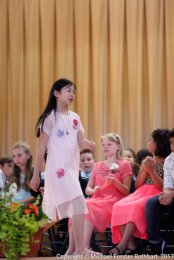 The Oneonta Greater Plains elementary school fifth grade awards ceremony, on June 21, 2017.<br /> &copy; Michael Forster Rothbart Photography<br /> www.mfrphoto.org &bull; 607-267-4893<br /> 34 Spruce St, Oneonta, NY 13820<br /> 86 Three Mile Pond Rd, Vassalboro, ME 04989<br /> info@mfrphoto.org<br /> Photo by: Michael Forster Rothbart<br /> Date:  6/21/2017<br /> File#:  Canon &mdash; Canon EOS 5D Mark III digital camera frame C19336