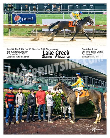 Lake Creek winning at Delaware Park on 9/28/16