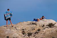 Italien, Elba, Marciana Marina, Felsen beim Strand La Fenicia