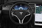 Car pictures of steering wheel view of a 2018 Tesla Model X 100D 5 Door SUV