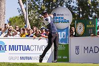 Joachim B Hansen (DEN) on the 10th tee during the third round of the Mutuactivos Open de Espana, Club de Campo Villa de Madrid, Madrid, Madrid, Spain. 05/10/2019.<br /> Picture Hugo Alcalde / Golffile.ie<br /> <br /> All photo usage must carry mandatory copyright credit (© Golffile | Hugo Alcalde)