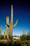RV life: RV life at Saguaro National Monument, AZ  .Photo Copyright: Lee Foster, lee@fostertravel.com, www.fostertravel.com,  (510) 549-2202.Image rvlife204