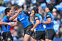 (L to R) Seiichi Shimomura (Wild Knights),. Jaque Fourie (Wild Knights), Atsushi Tanabe (Wild Knights), Akihito Yamada (Wild Knights),.FEBRUARY 26, 2012 - Rugby : Japan Rugby Top League 2011-2012,Play Off Tournament Final .match between Suntory Sungoliath 47-28 Panasonic Wild Knights at Chichibunomiya Rugby Stadium, Tokyo, Japan. (Photo by Jun Tsukida/AFLO SPORT) [0003] .
