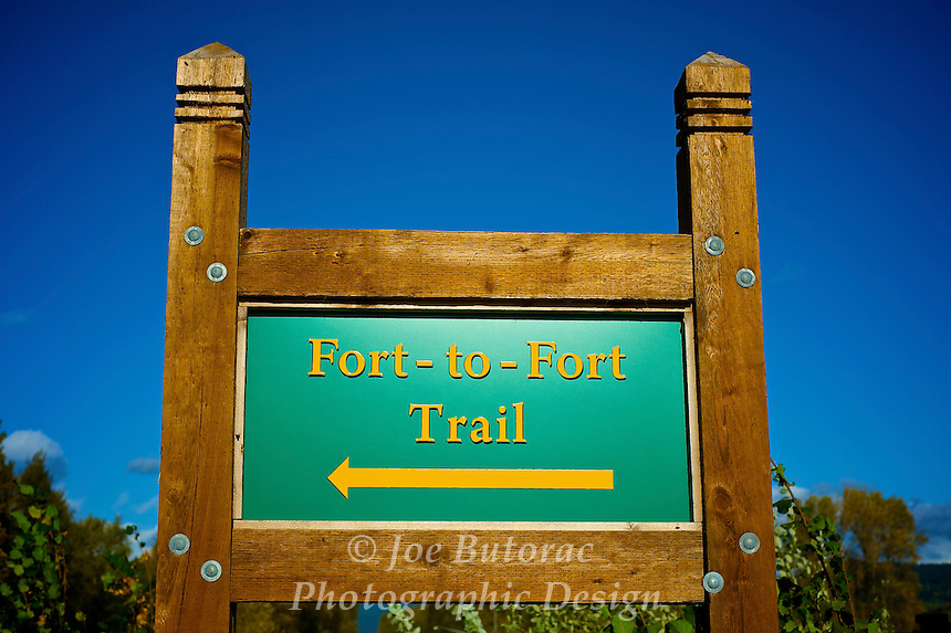 Fort to Fort Trail Sign Fort Langley B.C