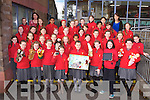 Pupils from Holy Cross Mercy NS Killarney who have been nominated for an award for the animated film The Princess and the Pea which they recorded for their FIS project the girls will travel to the Helix in Dublin for the awards ceremony on Thursday