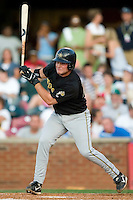 West Virginia designated hitter Andrew Lefave (29) follows through on his swing versus Lexington at Applebee's Park in Lexington, KY, Thursday, June 7, 2007.  Lefave went 4 for 5 with 3 RBI as the Power defeated the Legends  9-5.