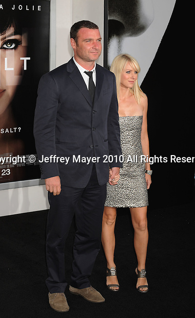 "LOS ANGELES, CA. - July 19: Liev Schreiber and Naomi Watts arrive at the ""Salt"" Los Angeles Premiere at Grauman's Chinese Theatre on July 19, 2010 in Hollywood, California."