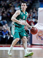 Zalgiris Kaunas' Adas Juskevicius during Euroleague 2012/2013 match.January 11,2013. (ALTERPHOTOS/Acero) /NortePhoto
