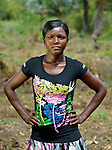 "Felicia Davis, 24, is one of several dozen women who work together to grow cassava on a six-acre farm in Mount Barclay, Liberia. The income-generating project, called ""Say No to Poverty,"" is administered by the National Federation of Women Employees and Allied Workers, with financial support from United Methodist Women."