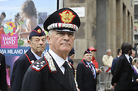 - Milano, 19 giugno 2016, raduno dell'Associazione Nazionale Carabinieri per celebrare i 202 anni dalla fondazione dell'Arma; il comandante, generale Tullio Del Sette<br />
